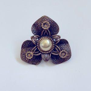 Vintage Brooch Antique Gold Ring